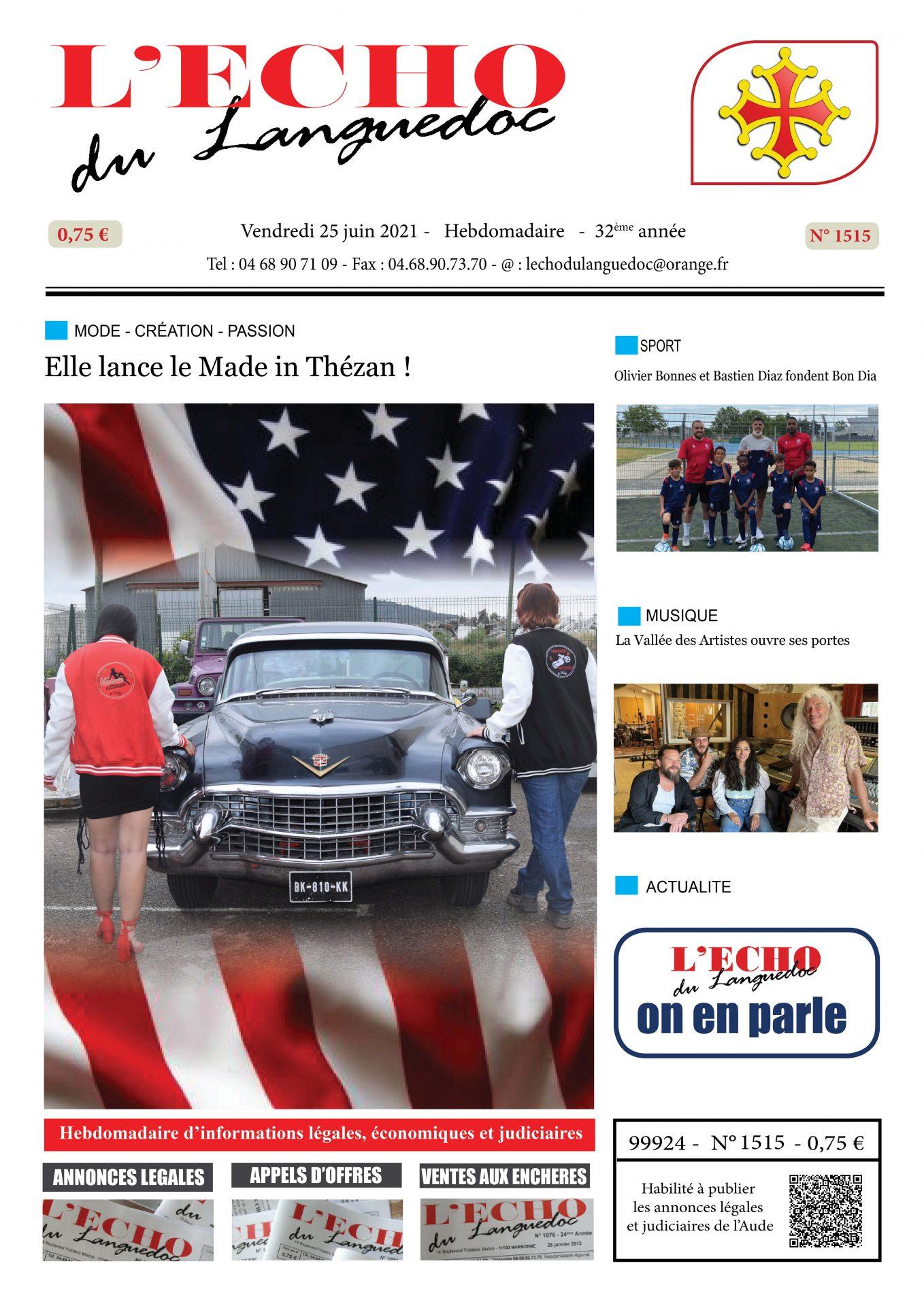 Journal n° 1515 du 25 juin 2021 - L'Echo du Languedoc